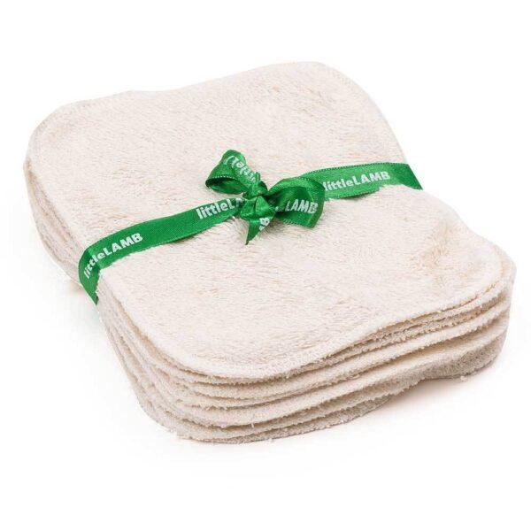 Washable organic cotton wipes